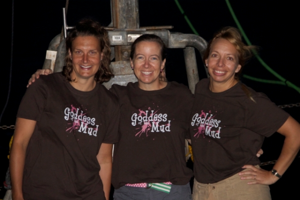 The Goddesses of Mud, Drs. Furu Mienis, Amanda Demopoulos, and Christina Kellogg. Photo by Eric Hanneman.