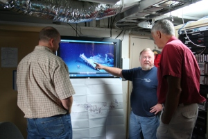 Reviewing wreckage footage (from the Gulf of Mexico)